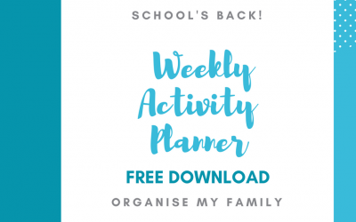 Weekly activity tracker: Free printable to download