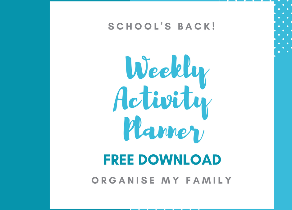 Weekly activity tracker